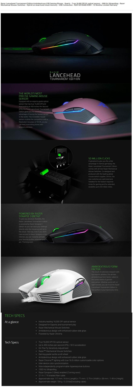 Razer DeathAdder Elite Skt T1 Edition - Multi-color Ergonomic Gaming Mouse